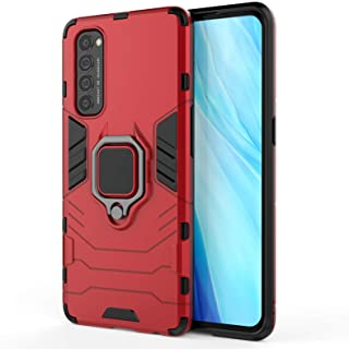 EasyLifeGo for OPPO Reno 4 Pro Case Hybrid Heavy Duty Armor Dual Layer Anti-Scratch Case Cover with Kickstand