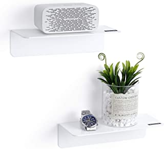 OAPRIRE White Floating Shelves Wall Mounted Set of 2 - Easily Expand Wall Space - Acrylic Hanging Shelves for Bedroom