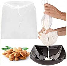 "Reusable fine mesh filter bag for milk tea coffee juice wine cheese food multipurpose drawstring filter bag (24""* 19"")"