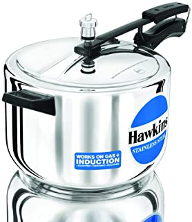 Hawkins Stainless Steel 8L Pressure Cooker with Induction Compatible Base (B85) (HWS_B85_SIR Silver)
