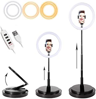 Foldable Portable Selfie Ring Light 11 inch/28 cm with Phone Holder for Video/Tik Tok/Makeup Ring Lamp