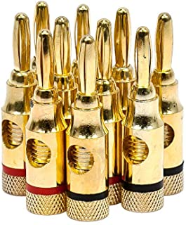 Monoprice Gold Plated Speaker Banana Plugs 5 Pairs 109437