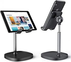 Luxdovy Desktop Tablet Mobile Cell Phone Stand Holder Desk for Home Office bed