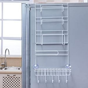 Over Door Freezer Storage Rack Hanging basket Kitchen refrigerator organizer Home Spice Organizer Pantry Shelf