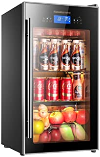 Ice Bar Refrigerator Wine Cooler Thermostat Wine Cabinet Home Display Refrigerated Small Freezer (Color : Black