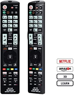 Gvirtue Universal Remote Control LG-1LC Compatible Replacement for LG TV/ 3DTV/ HD/Smart/LCD/LED/Netflix/Amazon AKB74915304 AKB74475401 AKB72915239 AKB72915238