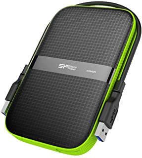 Silicon Power 1TB Black Rugged Portable External Hard Drive Armor A60