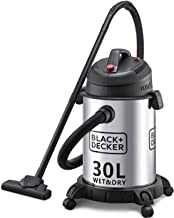 Black+Decker 1610W 30L Wet and Dry Stainless Steel Tank