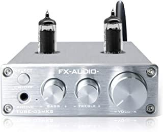 FX-AUDIO TUBE-03MKII BT Tube Preamplifier Headphone Pre Amplifier BT Receiver HiFi BT 5.0 Tube AUX Bass Treble Adjustment