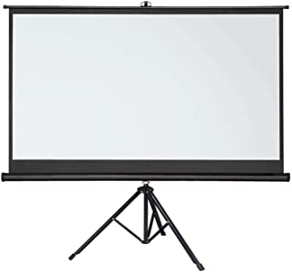 Arealer 72 inches Projector Screen with Tripod Stand 16:9 Portable Projection Screen 4K 3D Projector Movies Screen for Home Office Indoor Outdoor Use