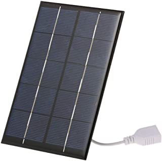 2.5W/5V Portable Solar Charger With USB Port Monocrystalline silicon Compact Solar Panel Phone Cellphone Power Bank Charger For Camping Hiking Travel