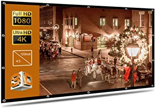 Douself Portable Foldable Projector Screen High Definition Outdoor Home Cinema Theater 3D Movie (120inch