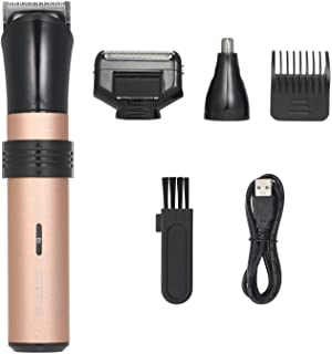 Electric Hair Clipper Kit Rechargeable 3-In-1 Beard Mustache Shaver Cordless Hair Trimmer with Guide Comb & Nose Hair Remover for Detailing & Grooming Hair Cutting Kit