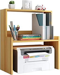 Printer Stand Desktop Copier Small Printer Storage Rack Multi Wood Desk Organizer for Home And Office