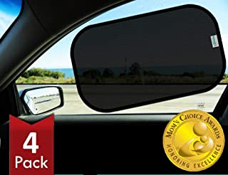 Kinder Fluff Car window shade (4px) - The only Certified sunshade proven to block 99.79% of UVA and 99.95% of UVB - Sun shades with transparency options for truck