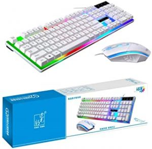 SKY-TOUCH G21 Keyboard Wired USB Gaming Mouse Flexible Polychromatic LED Lights Computer Mechanical Feel Backlit Keyboard Mouse Set
