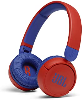 JBL JR310BTRED Kids wireless on-ear headphones-Red