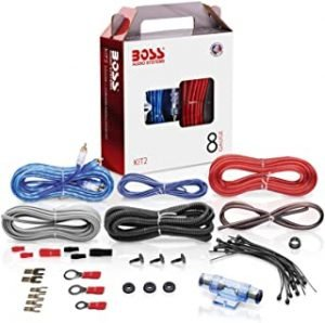 BOSS Audio KIT10 4 Gauge Amplifier Installation Wiring Kit 8 Gauge KIT-2