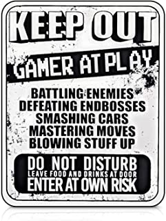 Wall Graffiti Gaming Stickers – 8 x 10 Inch Game Room Sign – Scratch Resistant Nylon Gamer Room Decor – Funny Signs for Wall – Ideal for Teens