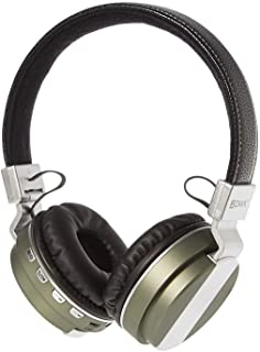 ZAKK Hunter Wireless and Wired Bluetooth Over Ear Headphones Black/Green