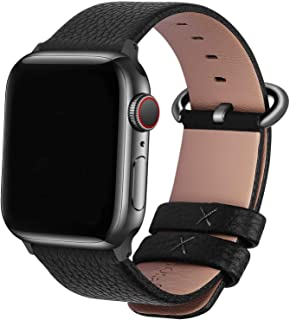 Fullmosa Compatible Apple Watch Band 38mm 40mm 42mm 44mm Calf Leather Compatible iWatch Band/Strap Compatible Apple Watch Series SE/6/5/4/3/2/1