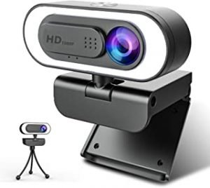 ZZCP Webcam for PC with Microphone-1080P Face Web Cam with Light