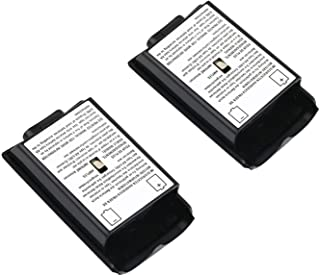 SOLDOUT™ 2 PCS Battery Cover Shell Case Kit For Xbox 360 Remote Wireless Controller Joystick Gamepad Joypad (Black
