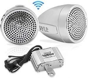 Pyle 300 Watt Weatherproof Motorcycle Speaker and Amplifier System w/Two 2.25 Inch Waterproof Speakers