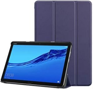 Huawei MediaPad M5 Lite 10 Case - Ultra Slim Tri-Fold Leather Smart-Shell Stand Cover with Auto Wake/Sleep for Huawei MediaPad M5 Lite 10 Inch 2018 Release blue M5 lite 10.0