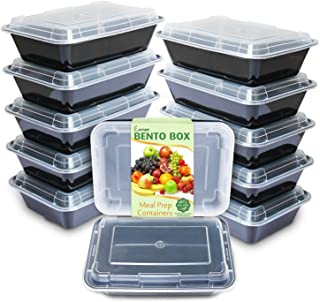Enther Meal Prep Containers [12 Pack] Single 1 Compartment with Lids