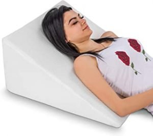 Bed Wedge Pillow with Memory Foam Top - Reduce Neck & Back Pain