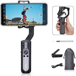 Hohem 2019 Smartphone Gimbal Stabilizer 3-Axis Handheld Gimble with Face Object Auto Tracking for iPhone Xs Max Xr X 8 Plus 7 6 Newest Mobile Plus Isteady Gimbal for Android Phone