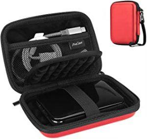 ProCase Universal Hard Drive Case 2.5 Inch for Canvio Basics Western Digital WD Elements My Passport Seagate Portable Backup Plus Slim 1TB 2TB 3TB 4TB USB 3.0