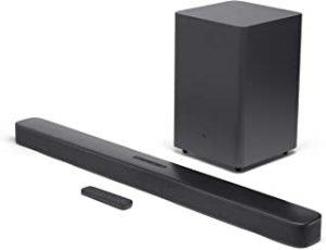 JBL JBLBAR21DBBLKEP JBL Bar 2.1 Deep Bass 2.1 Channel Soundbar with Wireless Subwoofer - (Pack of1)