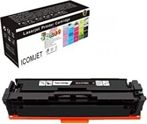 ICOMJET Compatible Toner Cartridge Replacement for HP 201A CF400A Work for HP Color Laserjet Pro M252dn M252n M252dw MFP M277dw M277n M274n Printer (1*black)