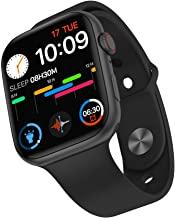 FK88 Smart Watch 1.78 Inch HD Screen with Encoder Knob Bluetooth Call Heart Rate Monitor Men Women Smartwatch (Black steel)