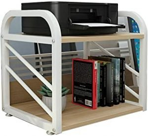 Printer Stand Monitor Stand with Storage Office Desktop Laser Copier Scanner Shelf Stand for Home And Office