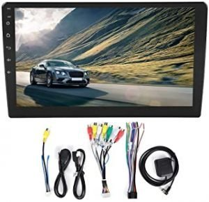 Qiilu Single Dine Car Stereo Radio Video Player 10.1in Touch Screen WiFi Bluetooth Car MP5 1G+16G