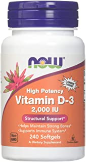 Now Foods - Vitamin D-3 2000 IU 240 softgels