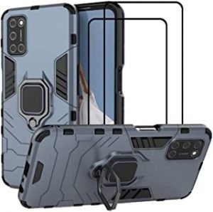 EasyLifeGo for OPPO A92 / OPPO A72 / OPPO A52 Kickstand Case with Tempered Glass Screen Protector [2 pieces]