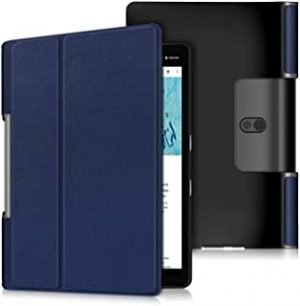 SKEIDO Ultra thin smart PU leather cover case stand cover case for 2019 lenovo Yoga tab 5 X705F tablet YT-X705F -Blue