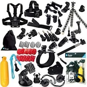 Ozone 25 in 1 Accessories Set Kit Compatible for GoPro hero 9 hero 8 Hero 5 Hero 4 session 3 Sports Action Camera
