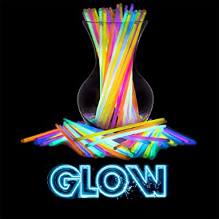 Swipply Glow in the Dark Sticks for Party Supplies Set of 100 Pieces 8 Colors with 100 Connectors for Cool Bracelet