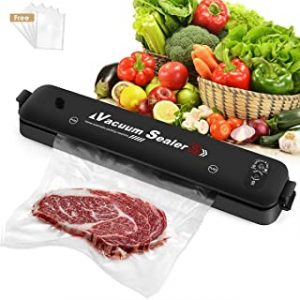 Vacuum Sealer Machine 2021 Upgraded Automatic Food Sealer Machine with 20 Sealing Bags Food Vacuum Air Sealing System for Food Preservation Storage Saver Easy to Clean | Safety Certified
