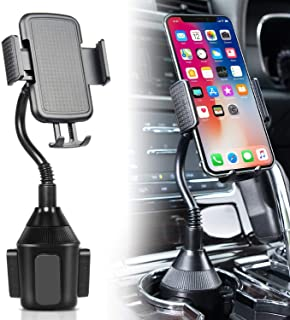 DELEE Cup Holder Phone Mount Universal Adjustable Gooseneck Cup Holder Cradle Car Mount for Cell Phone iPhone Xs/XS Max/X/8/7 Plus/Galaxy