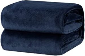 Oerset Flannel Fleece Blanket Soft Bed Blankets Twin Size Lightweight Cozy Plush Microfiber Blanket (Sapphire Blue