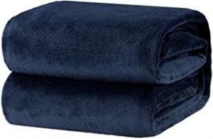 Oerset Flannel Fleece Blanket Soft Bed Blankets Twin Size Lightweight Cozy Plush Microfiber Blanket (Sapphire Blue