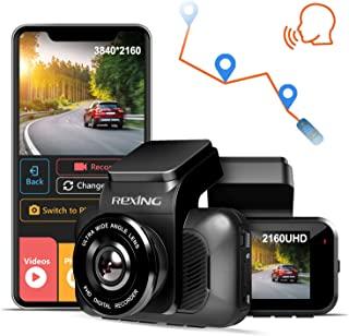 REXING V5 Dash Cam Premium 4K Modular Capabilities 3840x2160@30fps UHD WiFi GPS Car Camera Recorder Sony IMX335 Night Vision