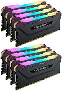 Corsair VENGEANCE RGB PRO 256GB (8x32GB) DDR4 3000 (PC4-24000) C16 Desktop memory – Black (CMW256GX4M8D3000C16)