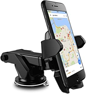 RKINC Easy One Touch Car Mount Universal Phone Holder for iPhone X 8/8 Plus 7 7 Plus 6s Plus 6s 6 SE Samsung Galaxy S9 S9 Plus S8 Plus S8 Edge S7 S6 Note 8 5